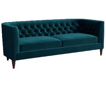 Anthropologie Andi Sofa in Marine Blue