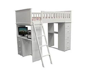 Acme Furniture Twin Loft Bed w/ Storage Drawers & Desk