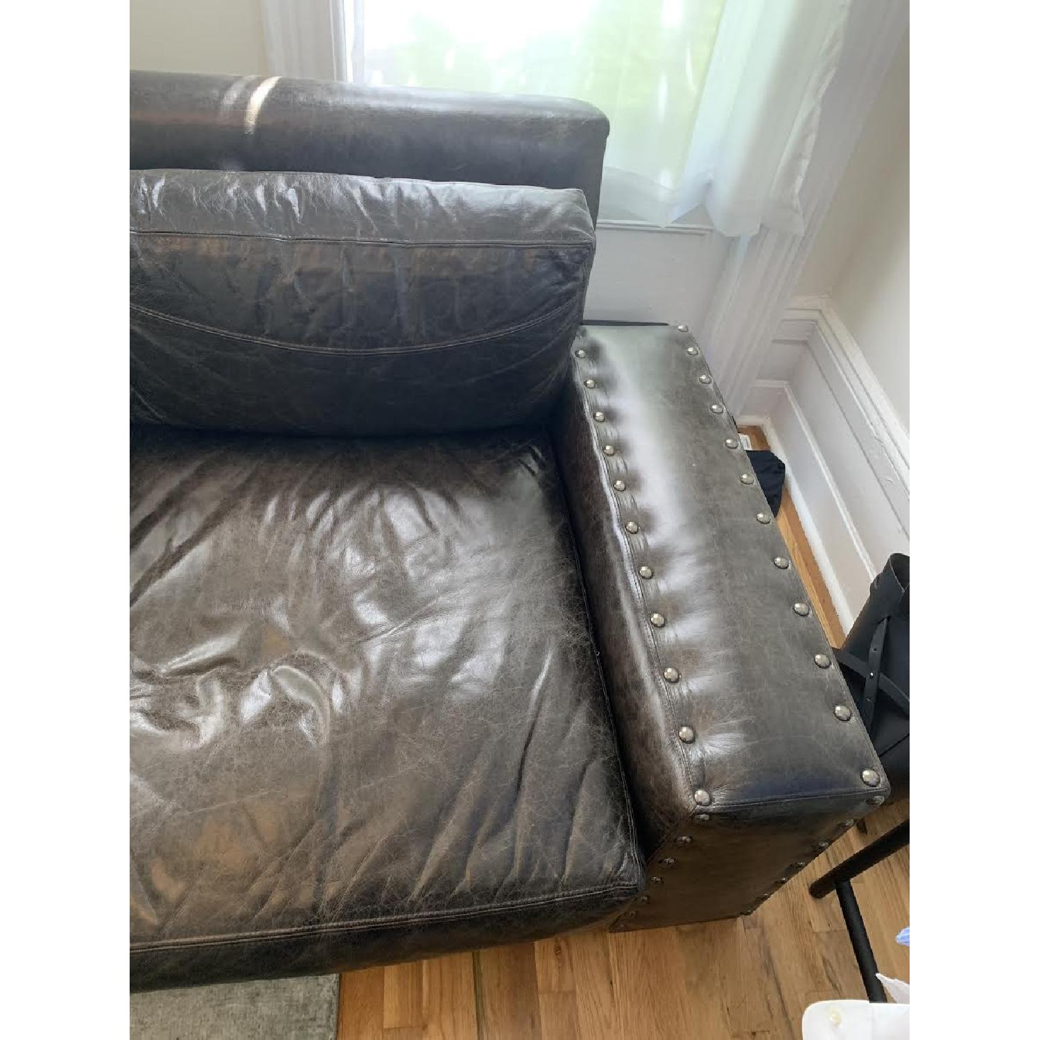 Black Leather Sectional Sofa - image-3