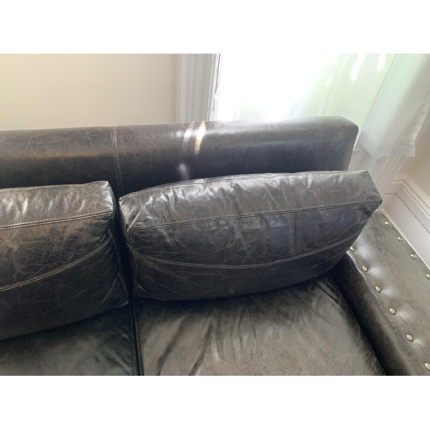 Black Leather Sectional Sofa - image-4