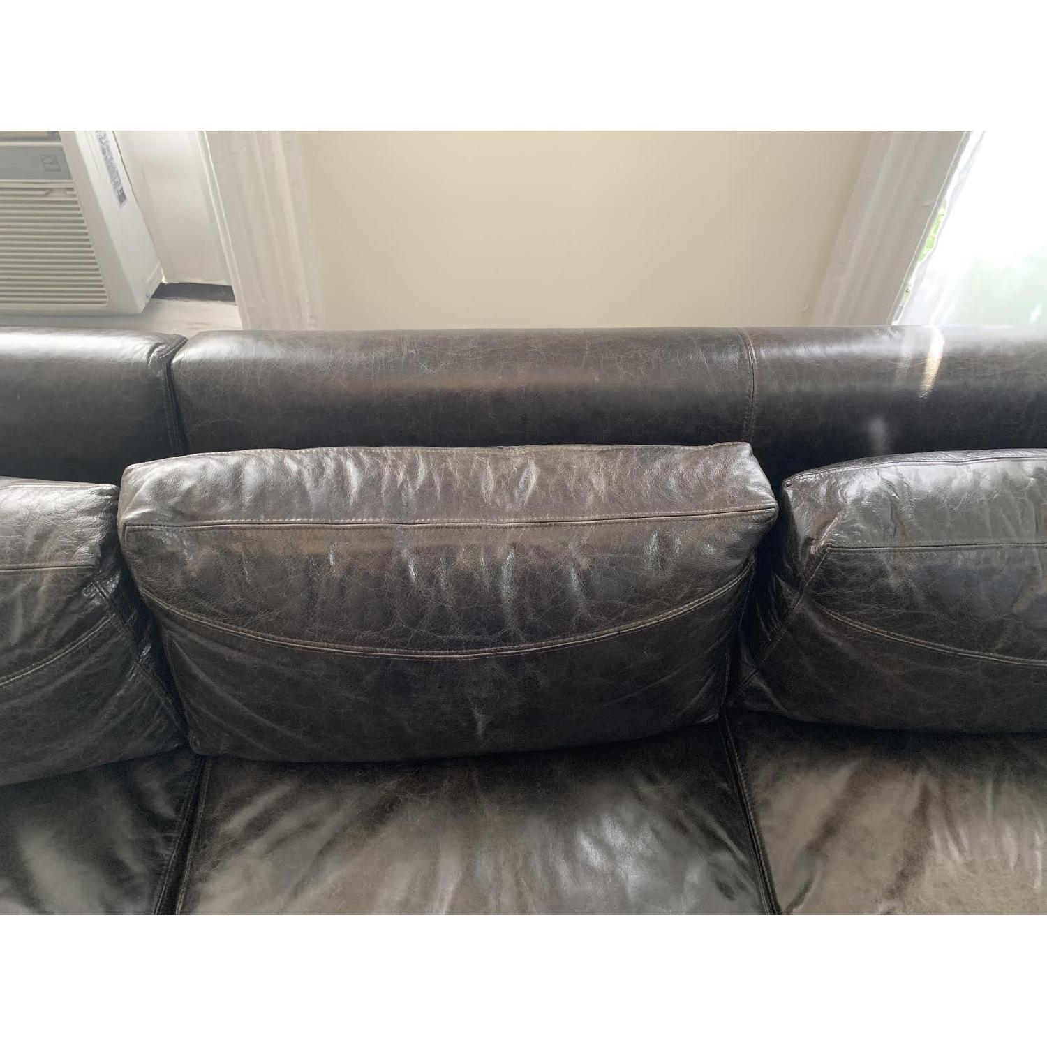 Black Leather Sectional Sofa - image-5