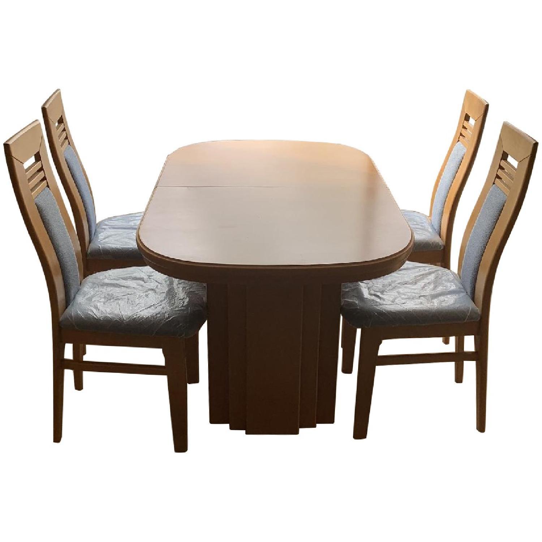 DiKlose Kollektion Cinnamon Oak 5-Piece Dining Set