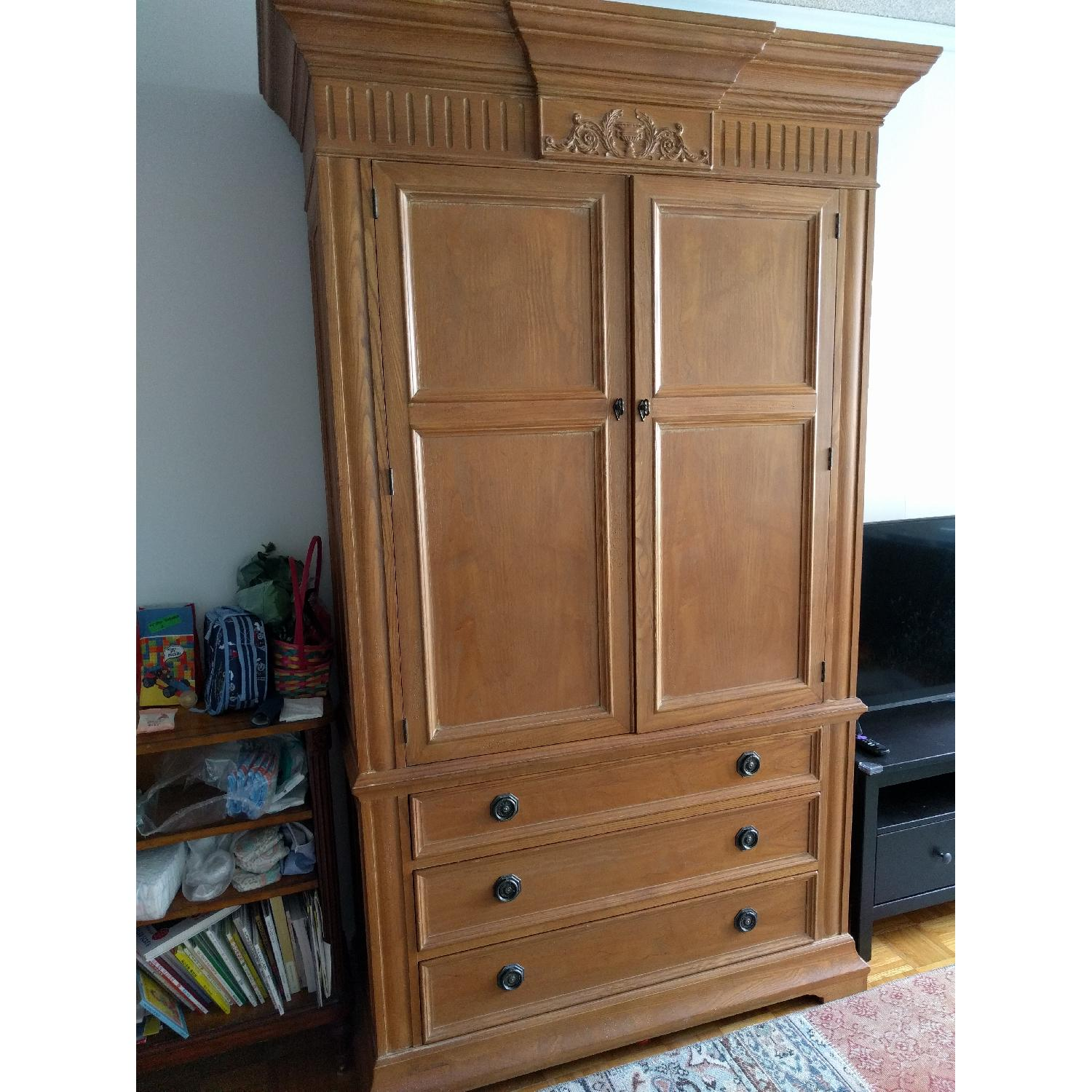 French Wood Armoire - image-1