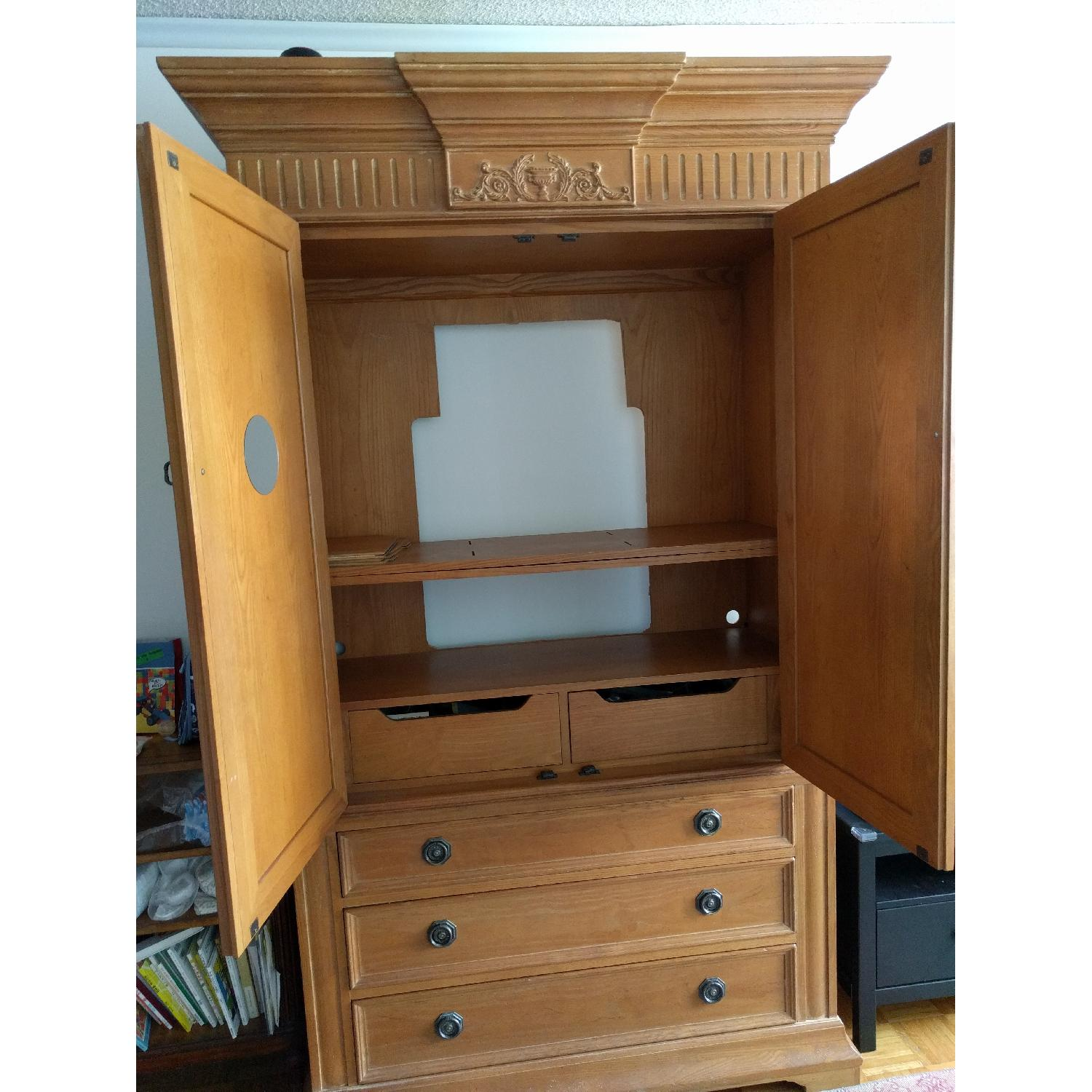 French Wood Armoire - image-2