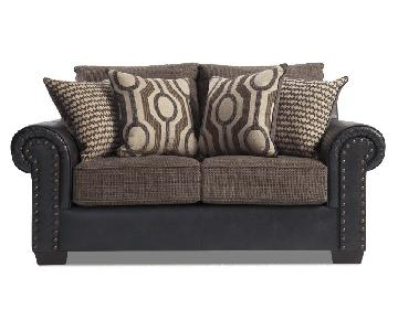 Bob's Leather-Armed Loveseat