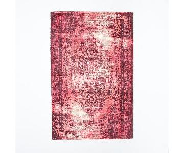 West Elm Distressed Arabesque Wool Rug in Shockwave