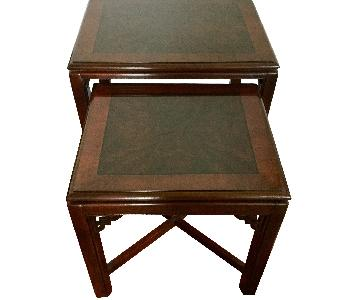 Drexel Chippendale Nesting End Tables