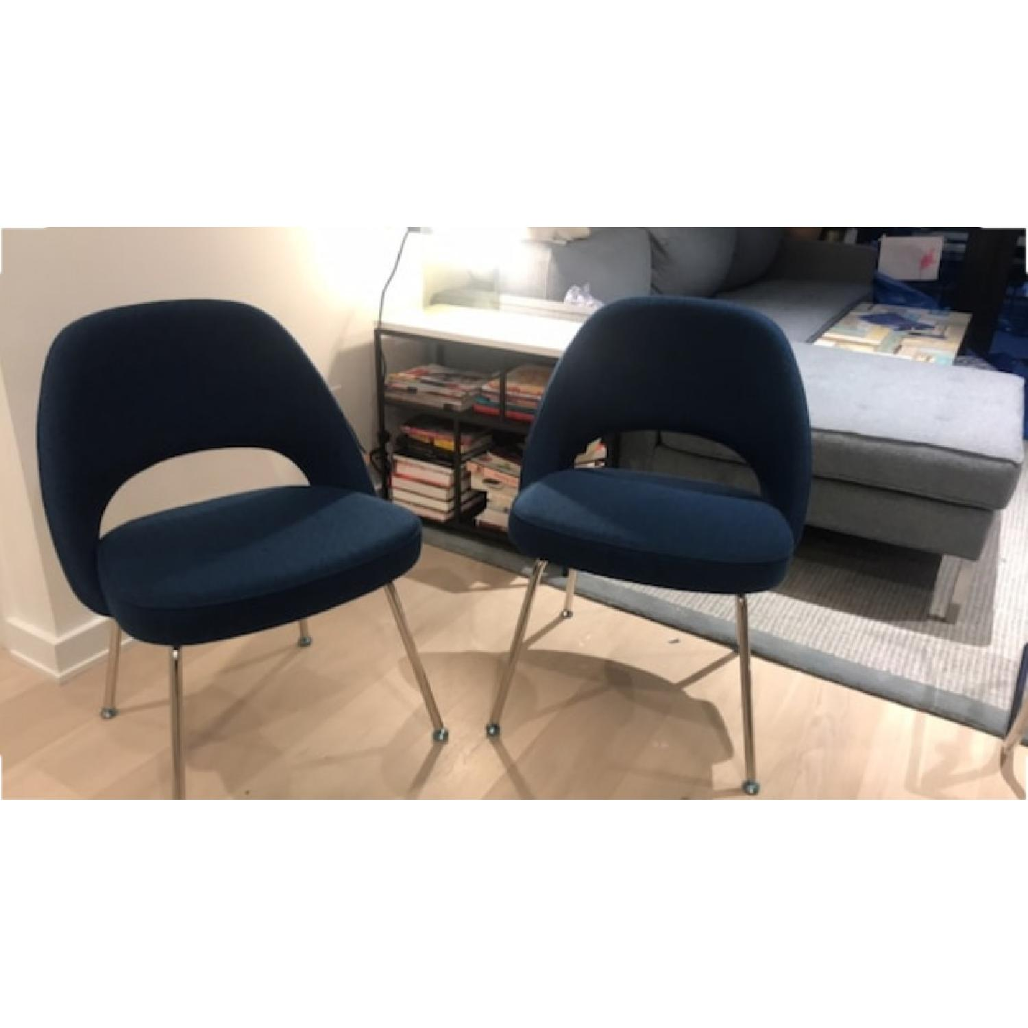 Rove Concepts Executive Side Chairs in Boucle Wool Twilight - image-1