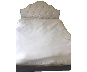 Sleepy's Queen Size Bed Frame w/ Tufted Headboard