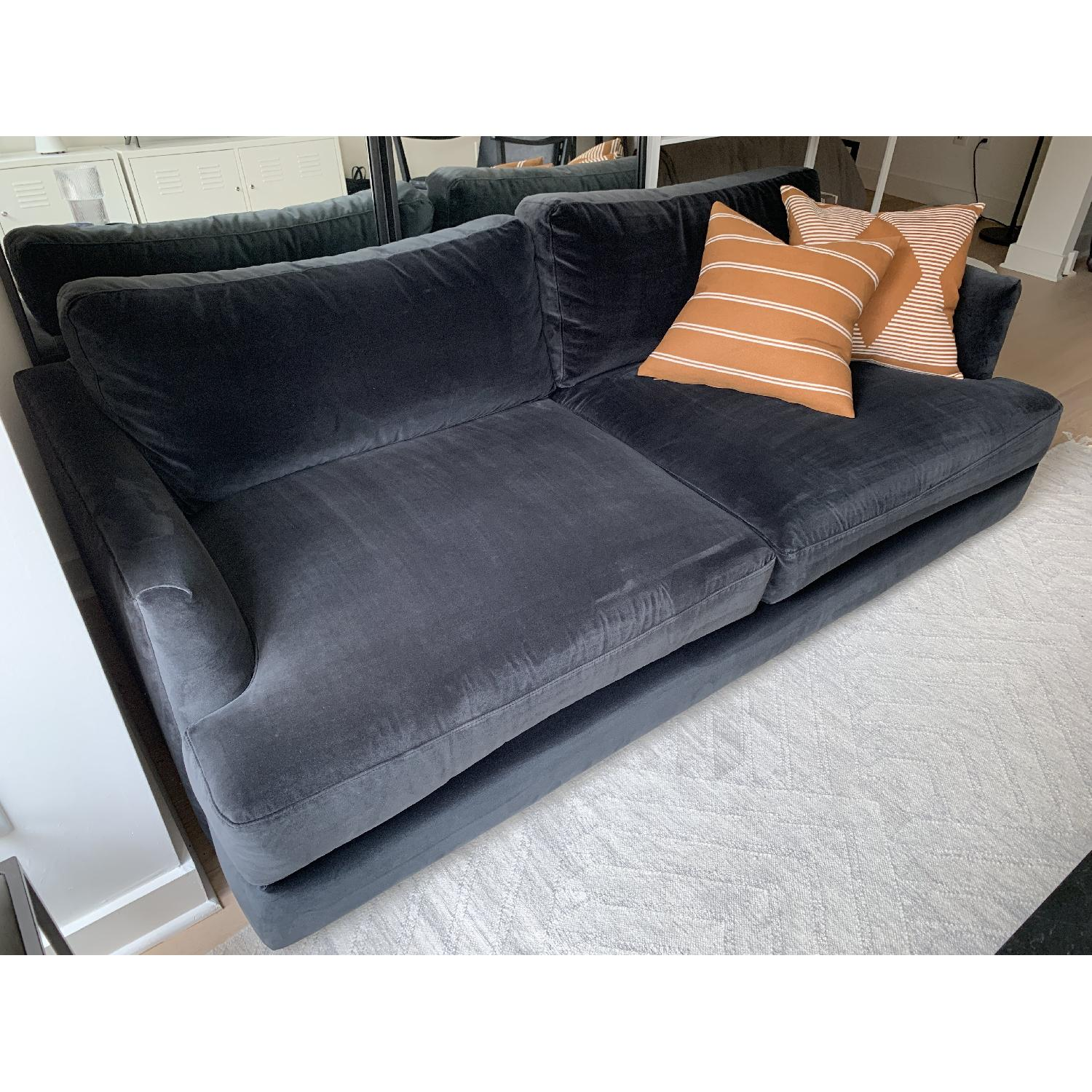 West Elm Haven Sofa in Iron Astor Velvet - image-3