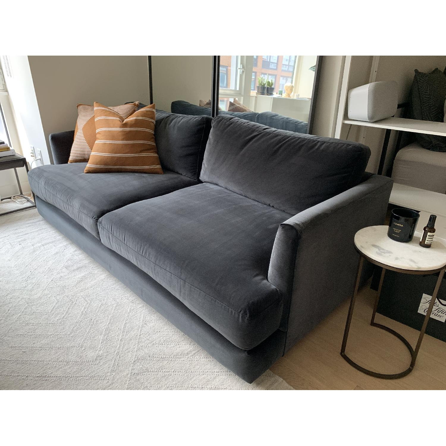 West Elm Haven Sofa in Iron Astor Velvet - image-6