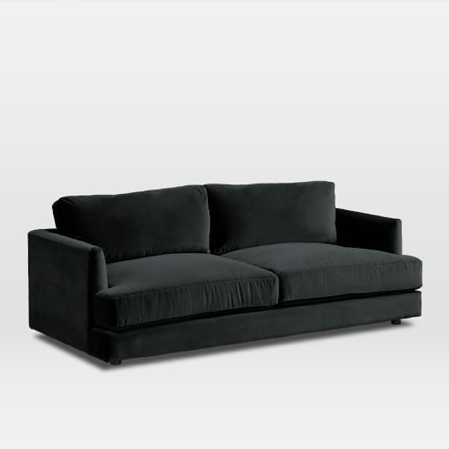 West Elm Haven Sofa in Iron Astor Velvet - image-7