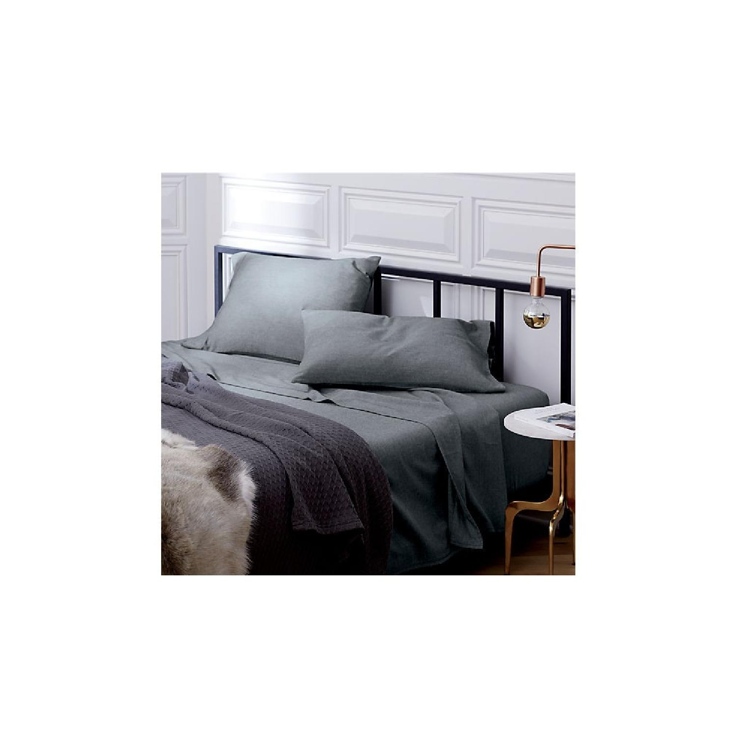CB2 Alchemy Black Queen Bed Frame - image-3