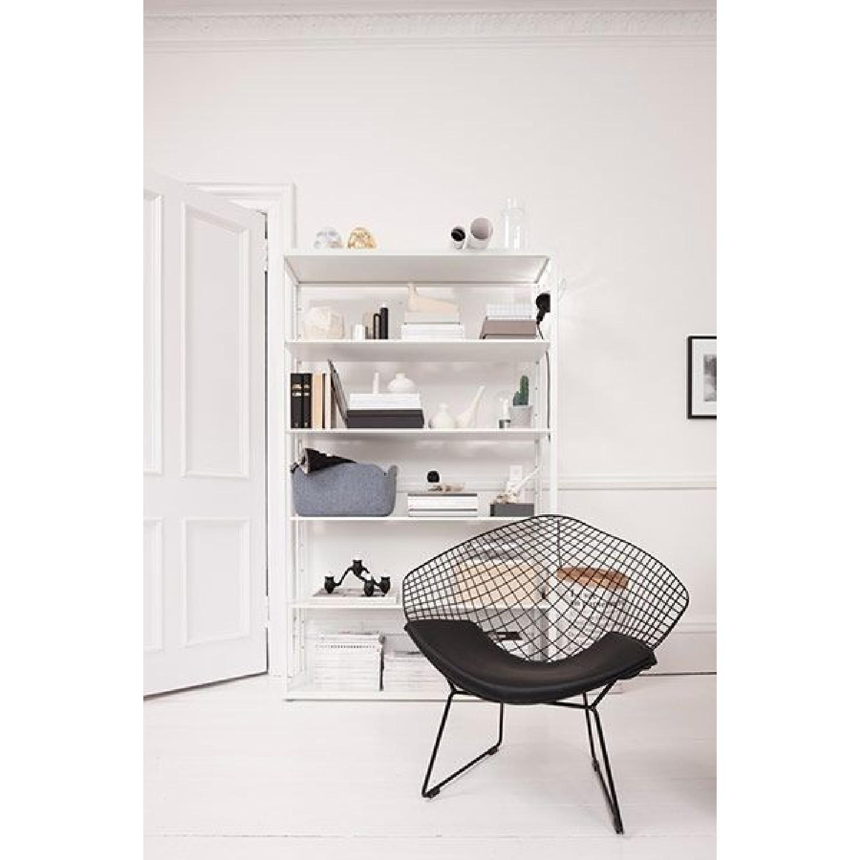 White Metal Bookshelf - image-1