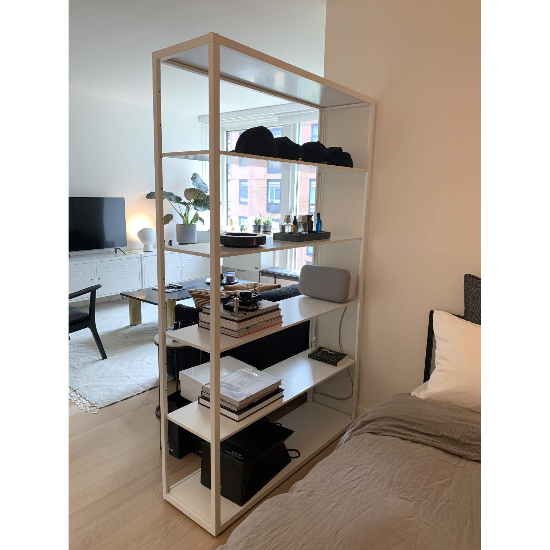 White Metal Bookshelf - image-4