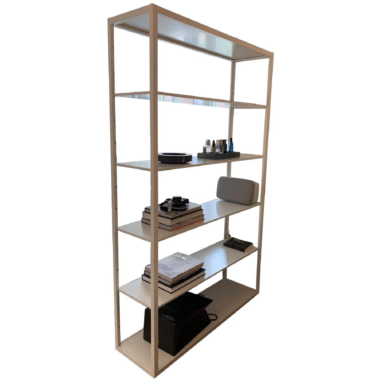 White Metal Bookshelf - image-0