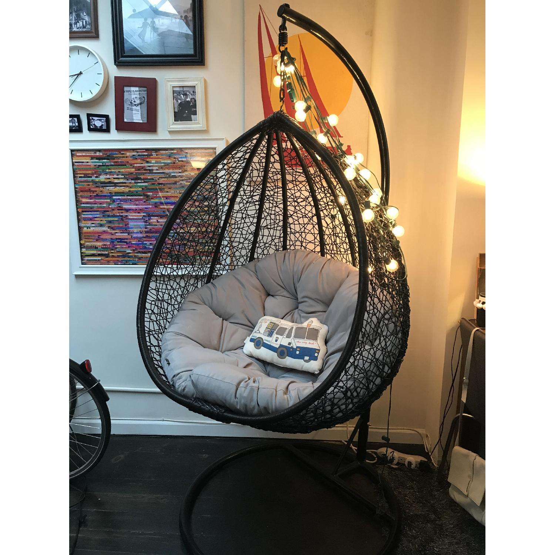 Luxo Living Viola Outdoor/Indoor Hanging Egg Nest Chair ... on Luxo Living Outdoor id=91199