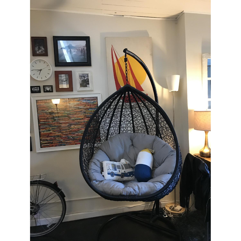 Luxo Living Viola Outdoor/Indoor Hanging Egg Nest Chair ... on Luxo Living Outdoor id=40624