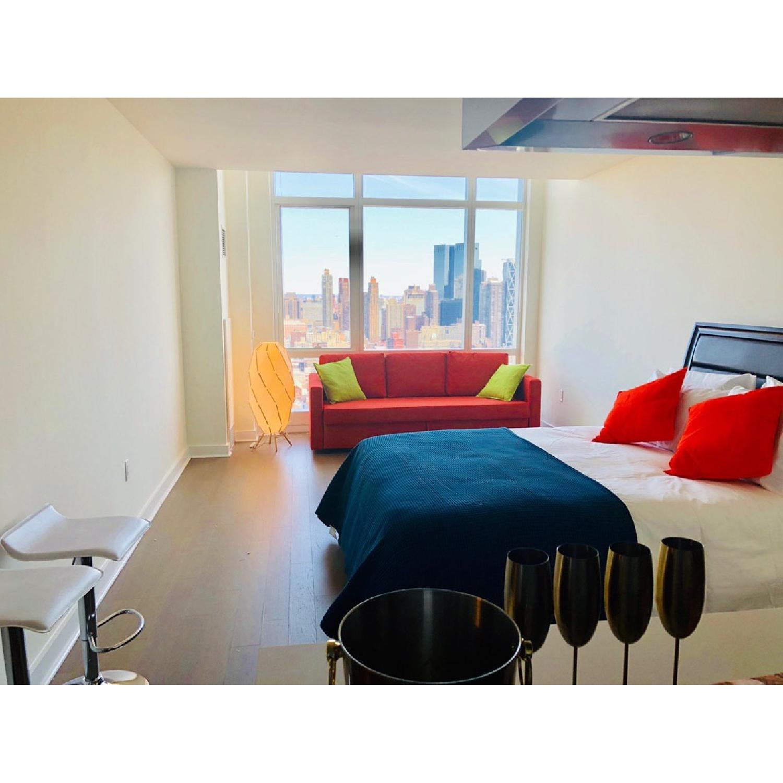 Modern Upholstered King Size Lift-Up Storage Platform Bed-0