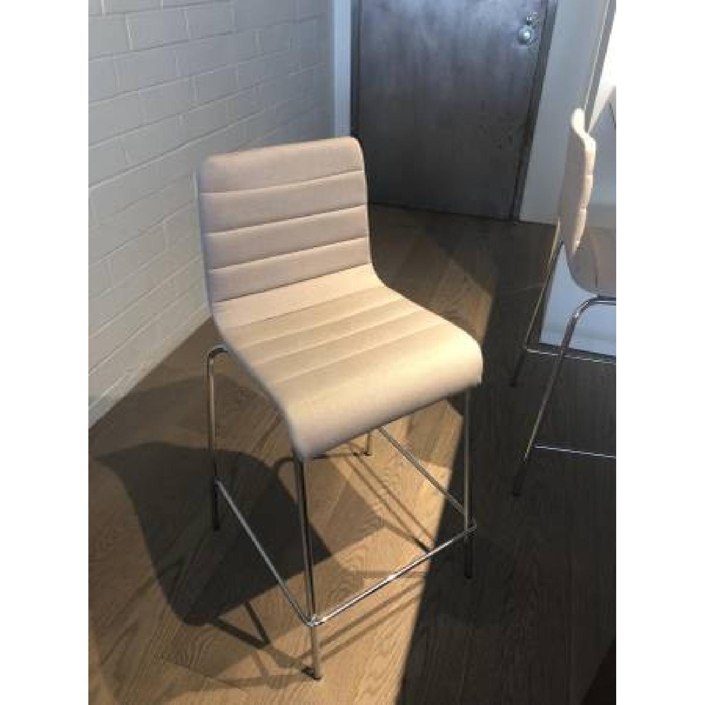 Blu Dot Modern Upholstered Bar Stools - image-0