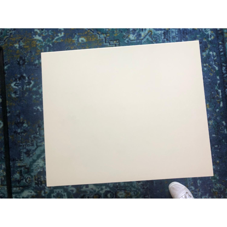 Hashtag Home White Cross Leg Side Table - image-1