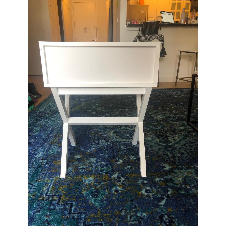 Hashtag Home White Cross Leg Side Table - image-5