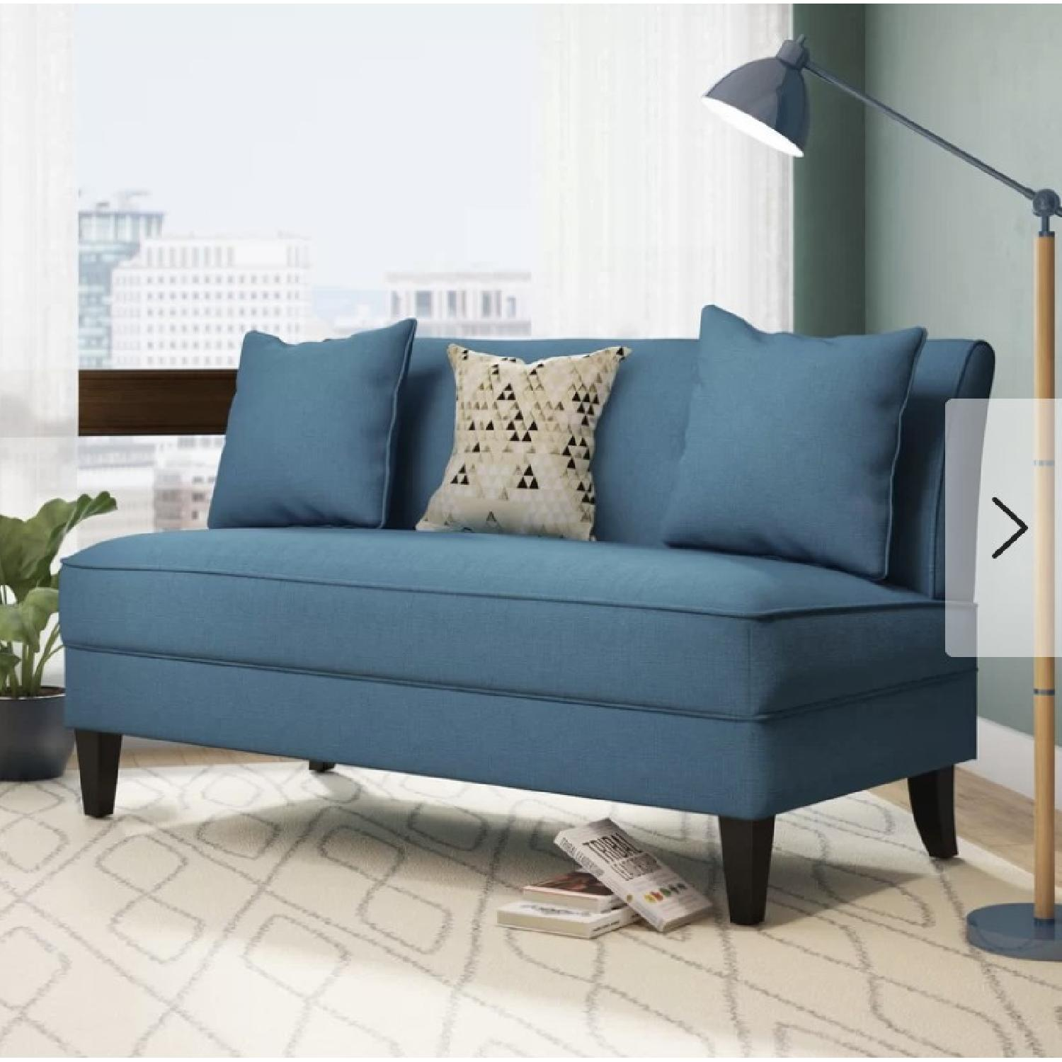 Mercury Row Loveseat in Caribbean Linen - image-1