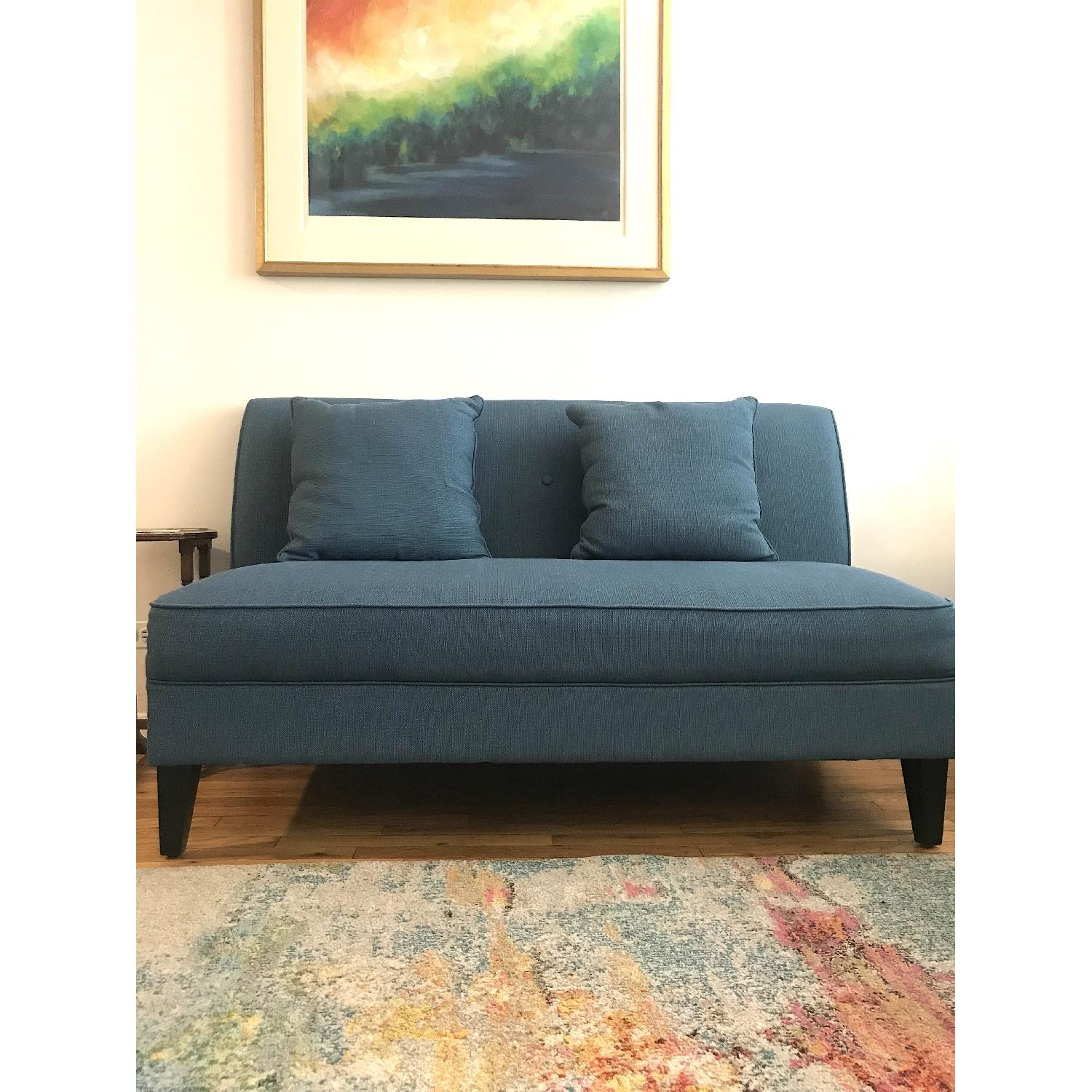 Mercury Row Loveseat in Caribbean Linen - image-2
