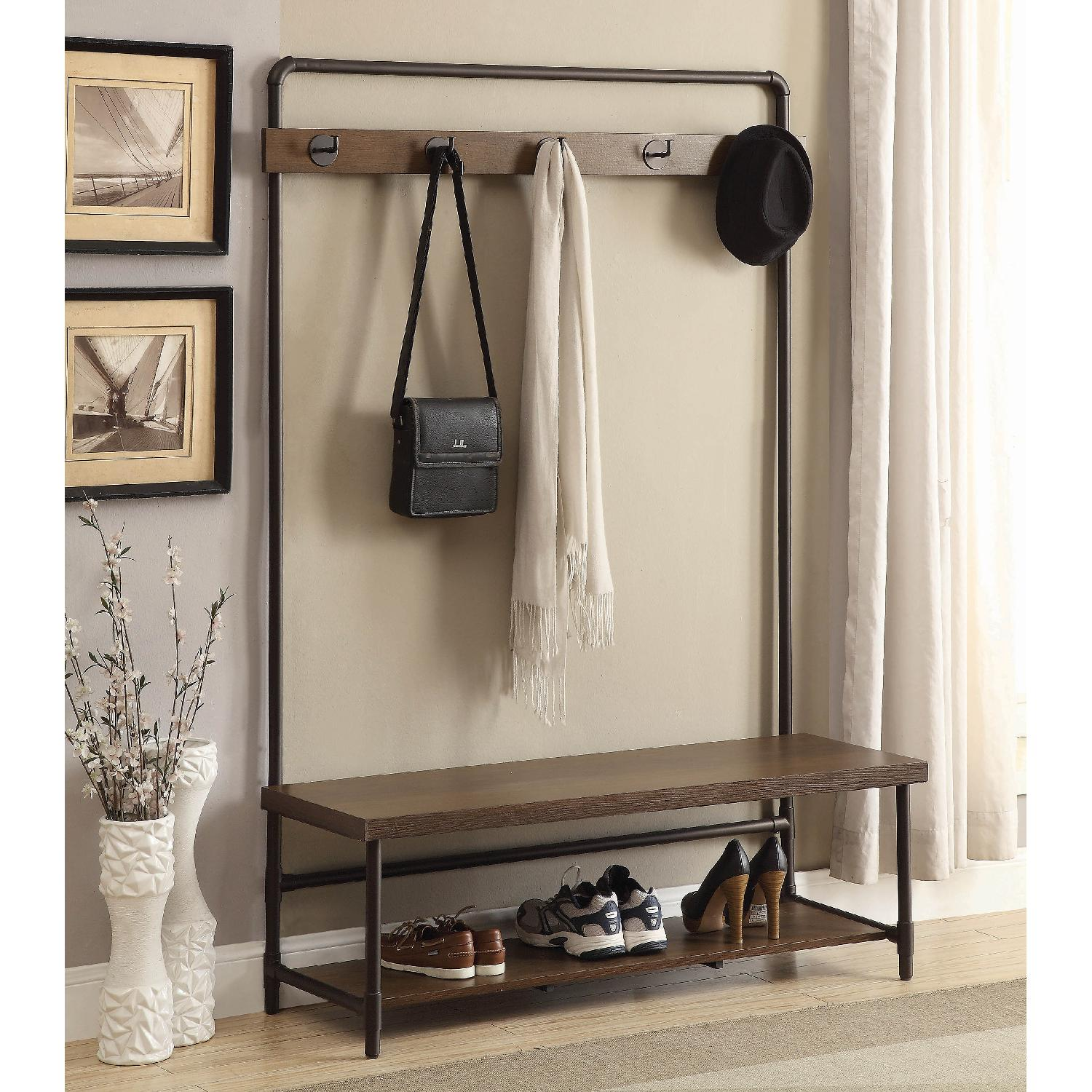 Industrial Chic Style Hall Tree - image-4