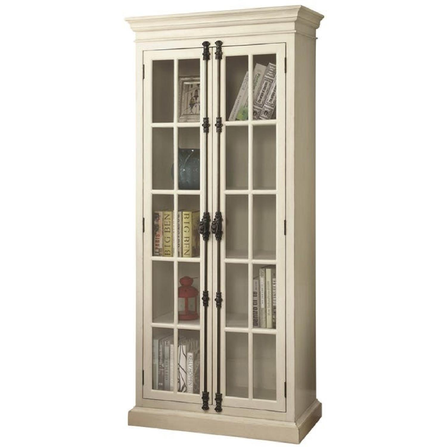 Classic French Style Cabinet w/ Shelves & Glass Doors - image-0