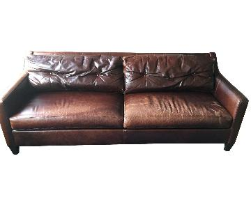 Ethan Allen Melrose Leather Sofa
