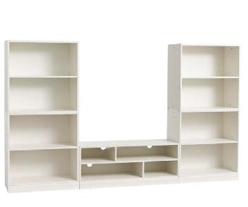 Pottery Barn Stack Me Up Media Console w/ 2 Bookcases