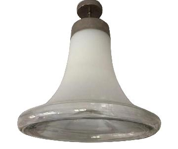 Bell Shaped Glass Hanging Fixture