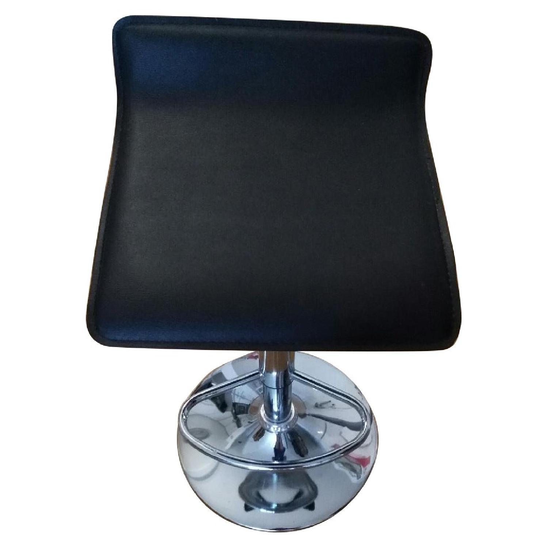 Brown Swivel Height Adjustable Barstool w/ Chrome Base - image-0
