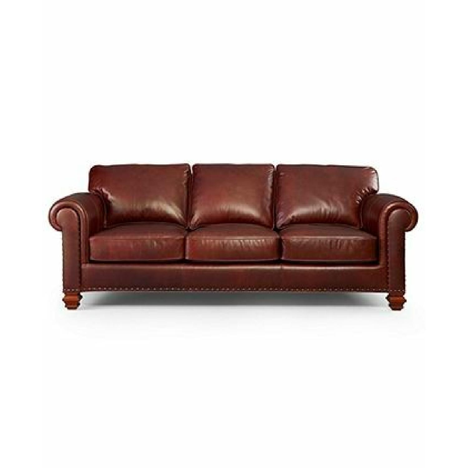Macy's Ralph Lauren Stanmore Leather Sofa - image-0