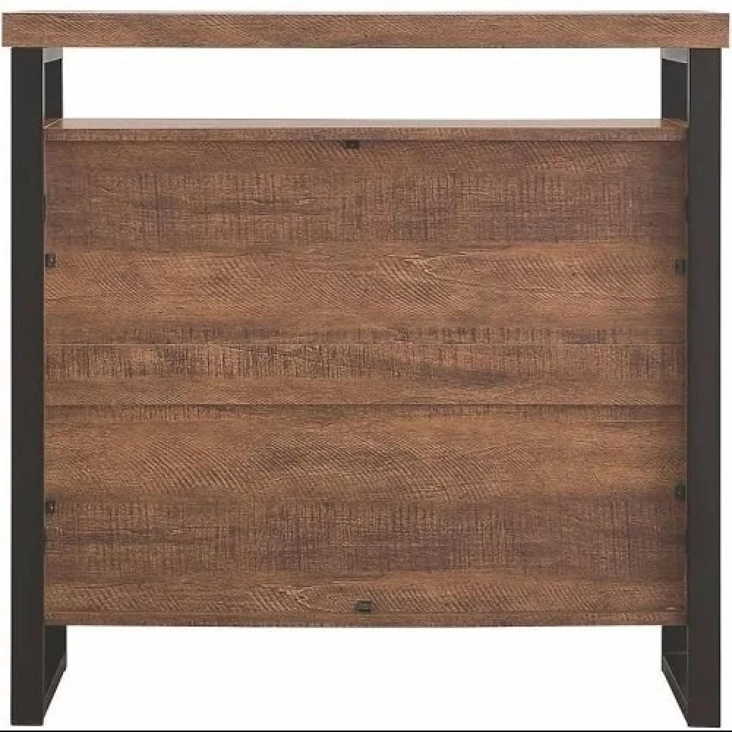 Industrial Style Curio Cabinet in Grey Driftwood Finish - image-5