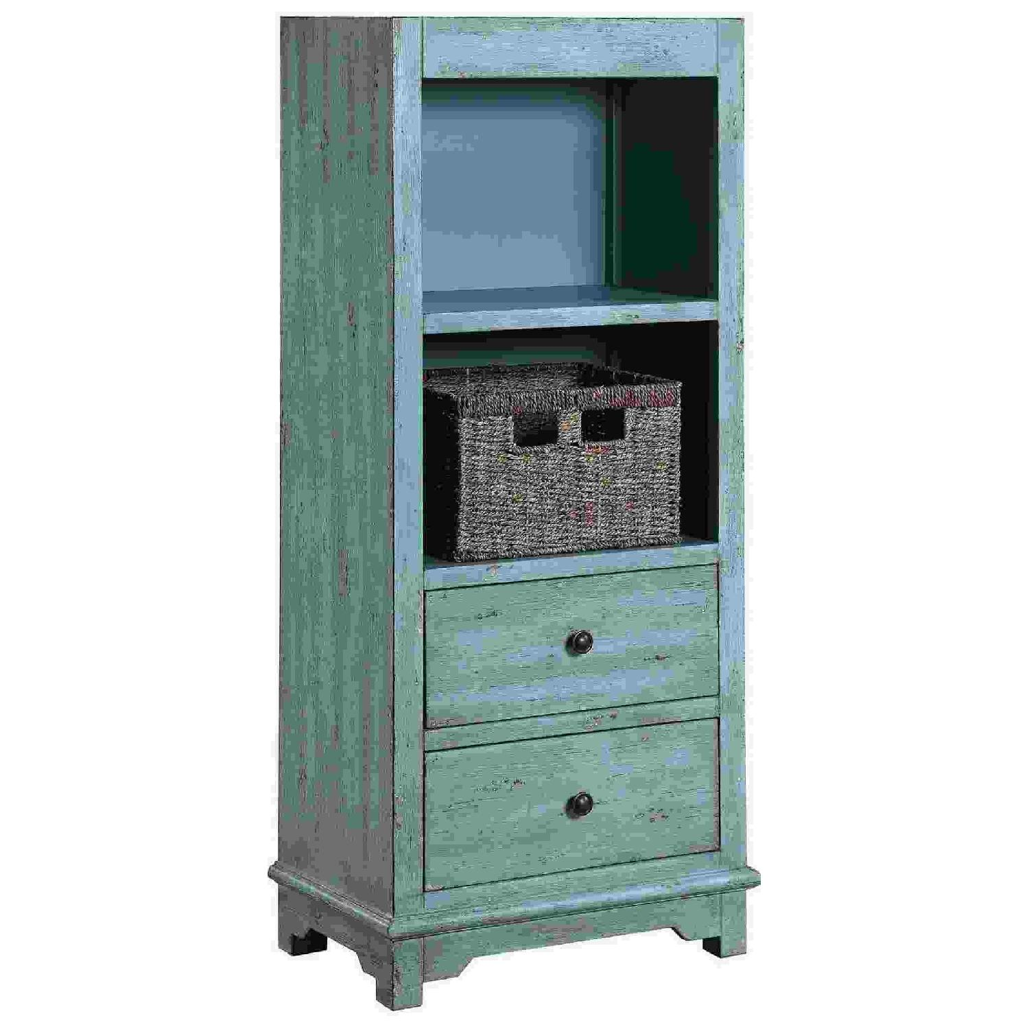 Industrial Style Curio Cabinet in Grey Driftwood Finish - image-10