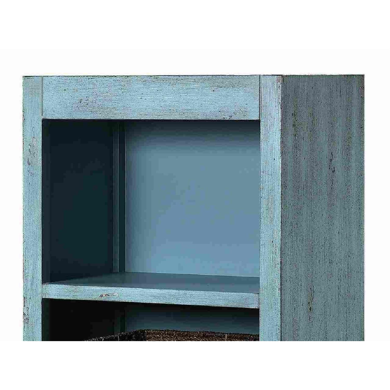 Industrial Style Curio Cabinet in Grey Driftwood Finish - image-11