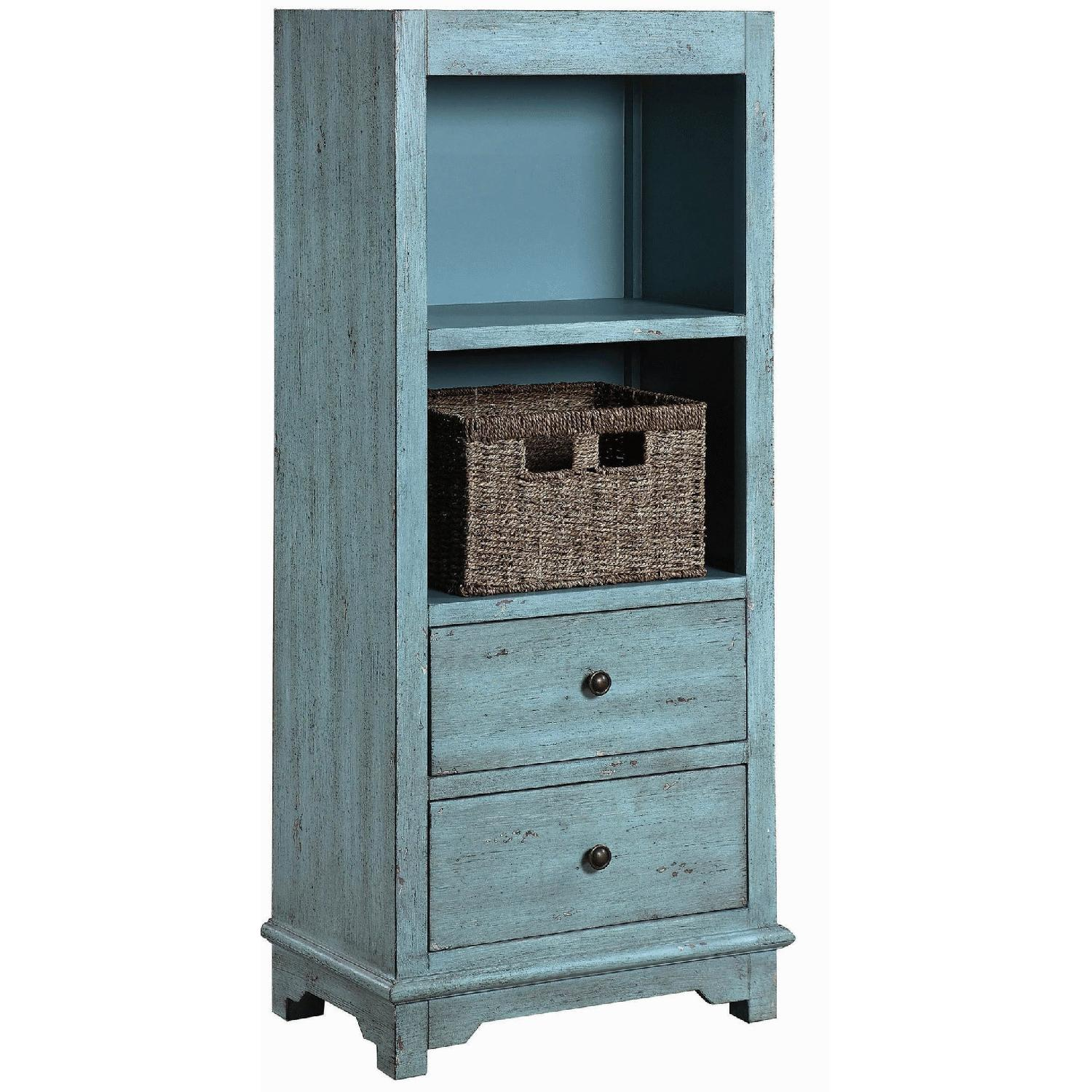 Industrial Style Curio Cabinet in Grey Driftwood Finish - image-12