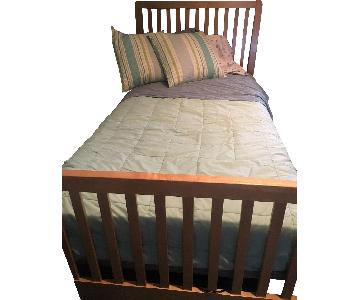 Stanley Twin Size Bed w/ Slatted Base