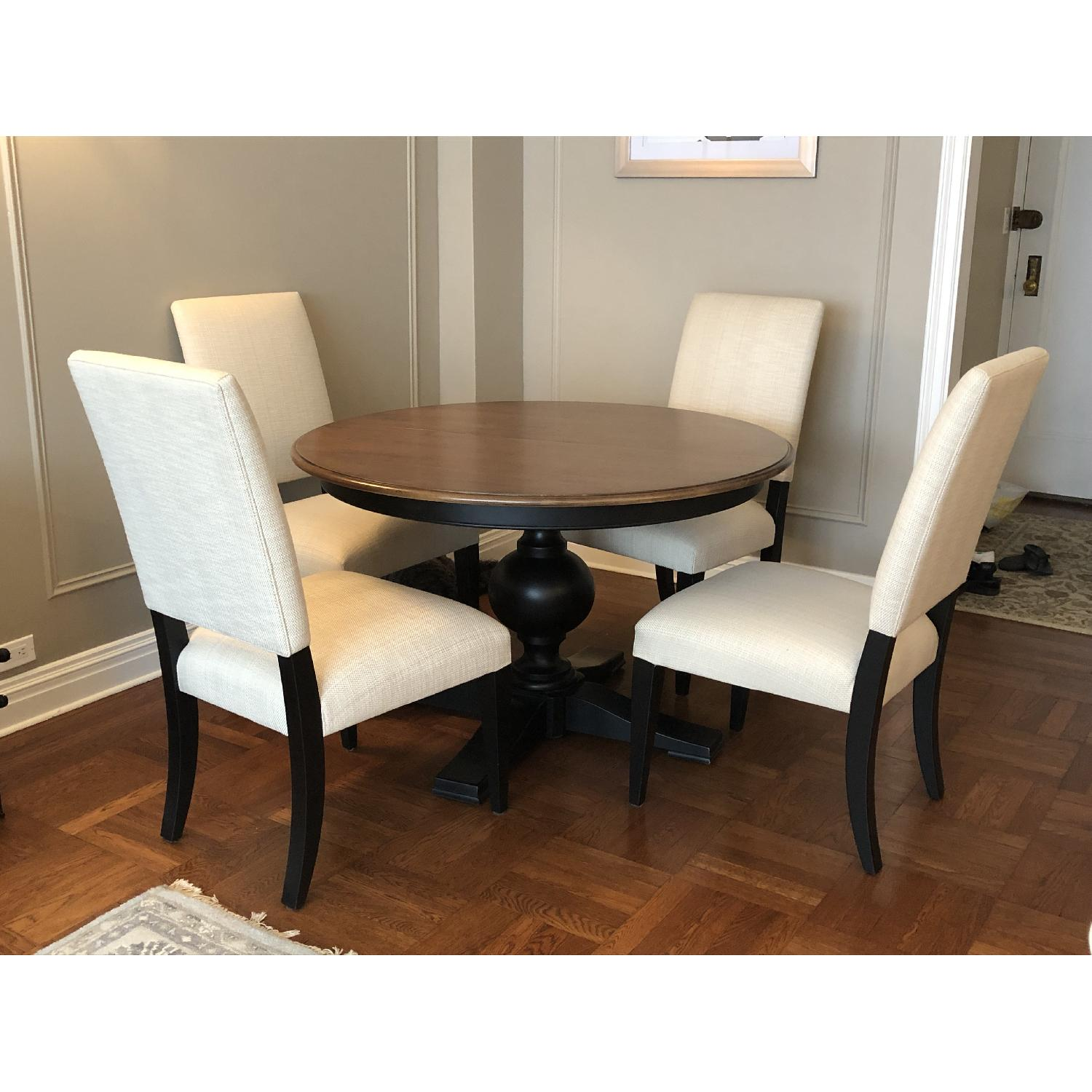 Ethan Allen Expandable Dining Table w/ 4 Chairs - image-0
