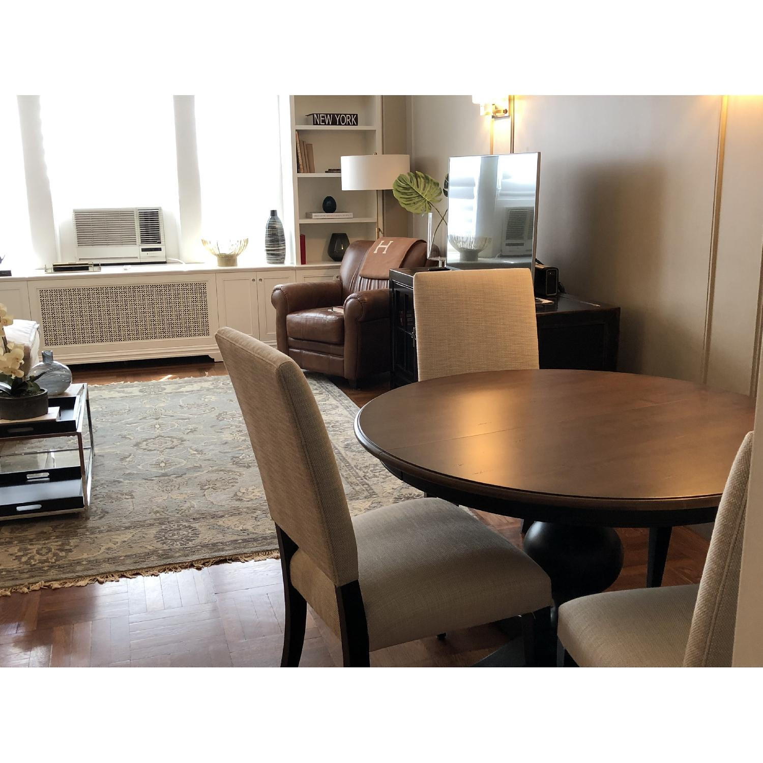 Ethan Allen Expandable Dining Table w/ 4 Chairs - image-1