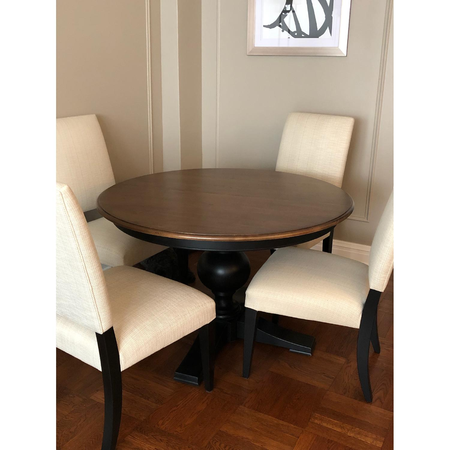 Ethan Allen Expandable Dining Table w/ 4 Chairs - image-2