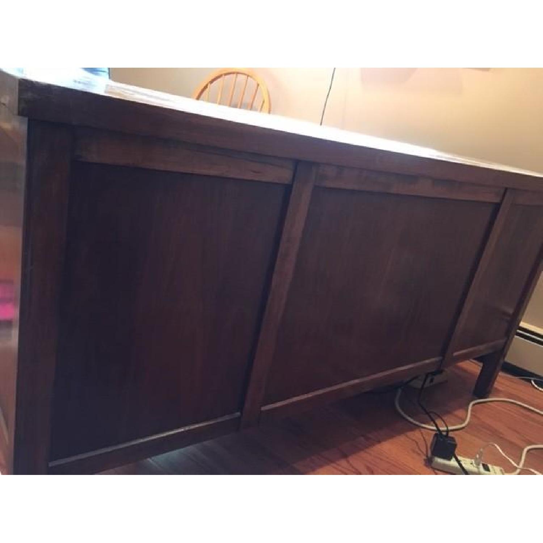 Vintage Solid Oak 6-Drawer Principal's Desk - image-3