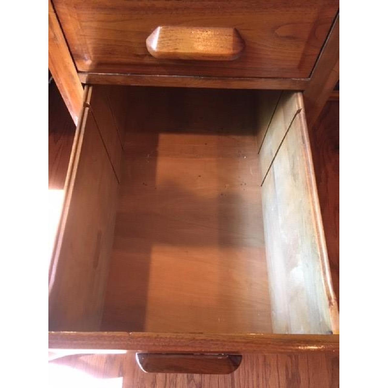 Vintage Solid Oak 6-Drawer Principal's Desk - image-7