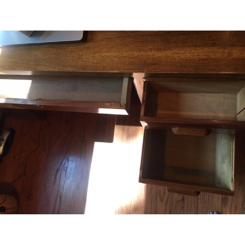 Vintage Solid Oak 6-Drawer Principal's Desk - image-8