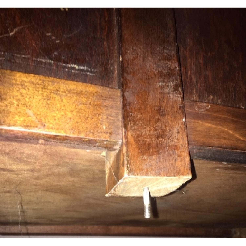 Vintage Solid Oak 6-Drawer Principal's Desk - image-12