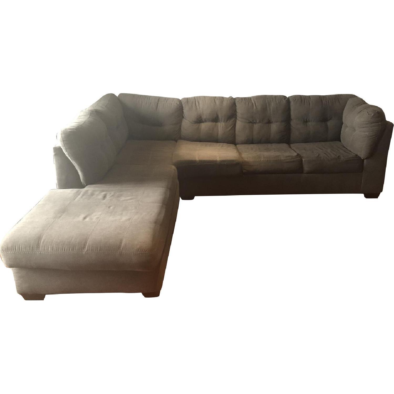 Ashley Arthur 2 Piece Gray Sleeper Sectional Sofa - AptDeco