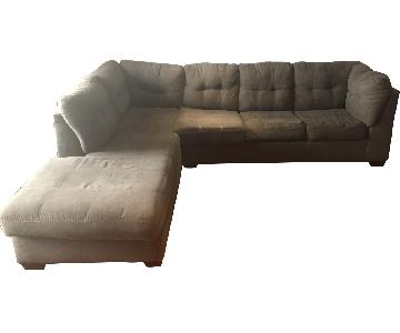 Ashley Arthur 2 Piece Gray Sleeper Sectional Sofa