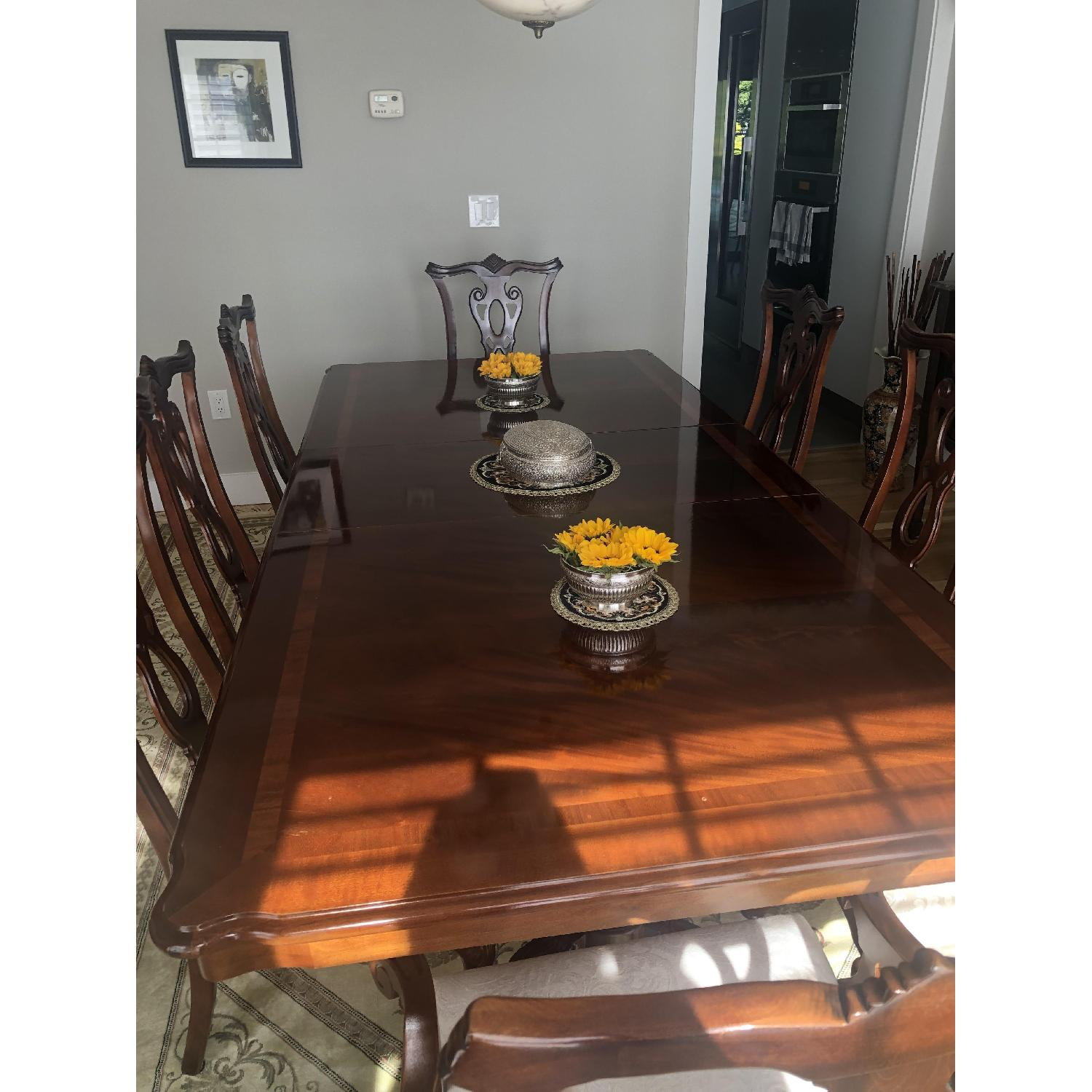 Thomasville Mahogany Dining Table w/ 8 Chairs - image-1